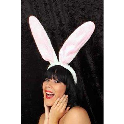 Maxi wit roze konijnen oren