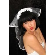 Beugel met bruidsluier luxe