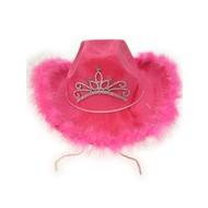 Cowboyhoed roze met licht