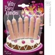 Party-kaarsen: Piemel 6 stuks