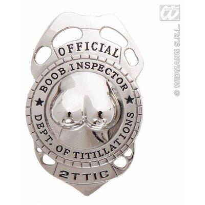 Tieten inspecteur badge voor vrijgezellen