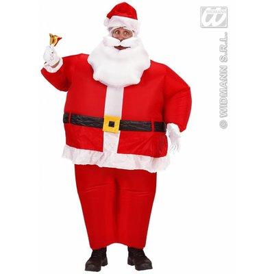 Kerst feestkleding: Opblaasbaar kerstmannen kostuum