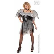 Vrijgezellen-kleding Sexy grijs/zwarte engel