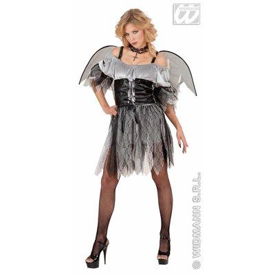 Vrijgezellen feestkleding Sexy grijs/zwarte engel