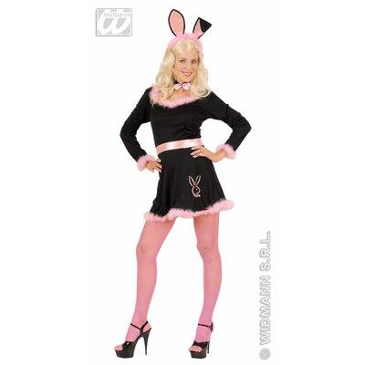 Zwarte Bunny feestkleding voor henparty's