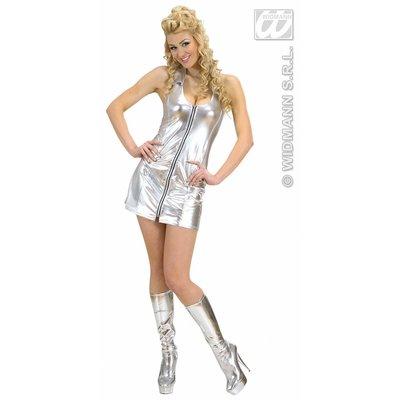 Vrijgezellen feestkledign: Disco-Queen zilver