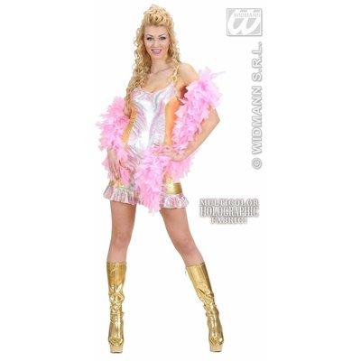 Vrijgezellen feestkleding: Disco-Queen (multi-color holographic)