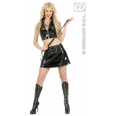 Sexy feestkleding vrijgezellenkostuum: Fethisista (vinyl)