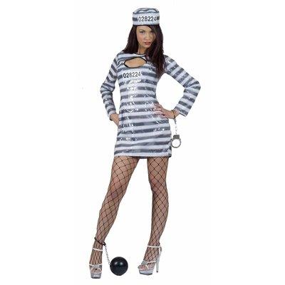 Vrijgezellen feestkleding: Sexy Prisoner
