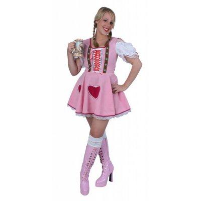Tips voor henparty avonden: Roze herzilein jurk voor de bruid