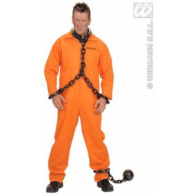 Party-kostuum: Oranje inmate overalls