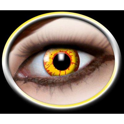 Party-accessoires: Contactlenzen rood met geel