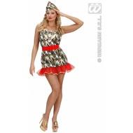 Vrijgezellen-feest-kleding: Sexy Army-girl