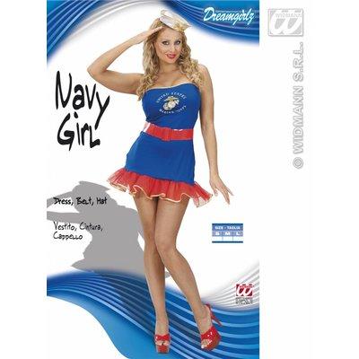 Sexy marine-girl jurkje