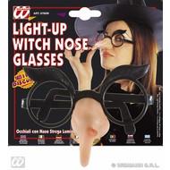 Bril met oplichtende heksenneus