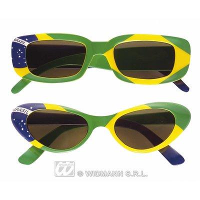 Bril met Braziliaanse vlag