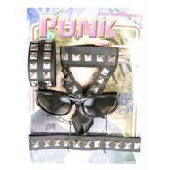 Carnavalsaccessoires: Punkset 4-delig met bril