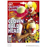 Party-accessoires: Kale kop clown latex met rood haar