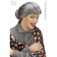 Party-kleding: Pruik, tante Maria (in plastic zak)
