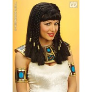 Party-kleding: Pruik, koningin van de Nijl