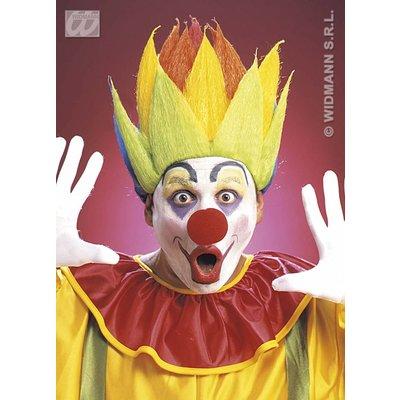 Clownspruik, shock meerkleurig