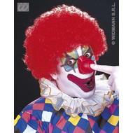 Party-kleding: Pruik, clown met krullen