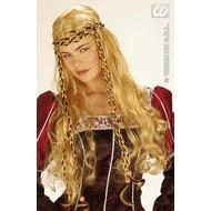 Party-kleding: Pruik, Monalisa
