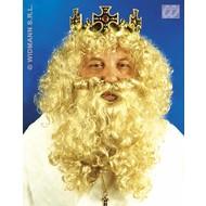 Party-kleding: Luxe pruik koning