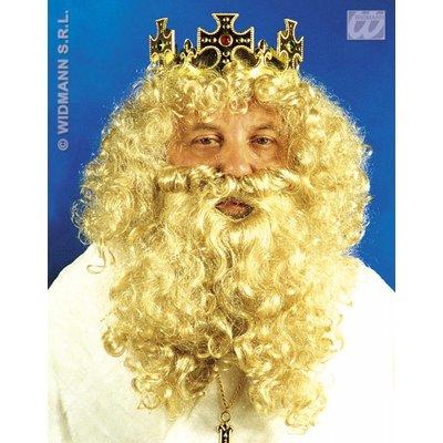 Luxe pruik koning