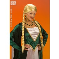 Party-kleding Pruik, Middeleeuwse koningin, verschillende kleuren