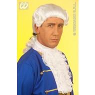 Party-kleding: Pruik, koloniaal man