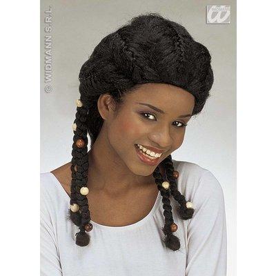 Afro look pruik voor meiden