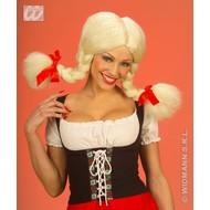 Party-kleding: Pruik, Heidi buigbaar