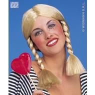 Party-kleding: Pruik, Wendy blond