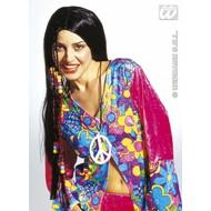 Party-kleding: Pruik, hippie met vlechtdecoratie
