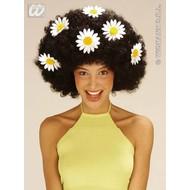 Party-kleding: Pruik, Daisy groot in de kleur zwart