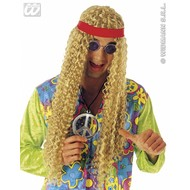 Party-kleding Hippie pruik met hoofdband