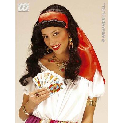 Zigeunerin pruik met hoofdband