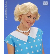 Party-accessoires: Pruik, Audrey in verschillende kleuren
