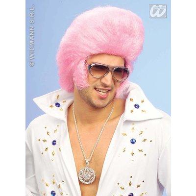 Roze Elvis the King pruik