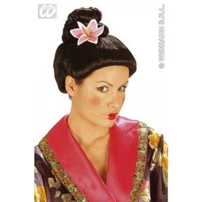Japanse pruik met lotusbloem