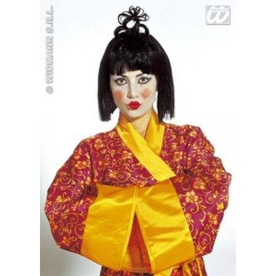 Japanse pruik met sluik haar
