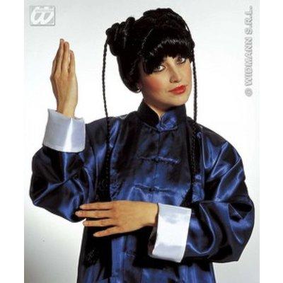 Geisha pruik met staartjes