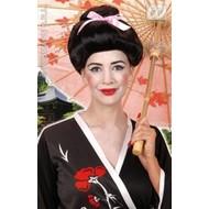 Party-accessoires: Pruik, Geisha