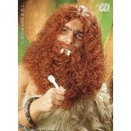 Party-accessoires Pruik, grotbewoner met baard