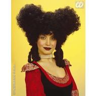 Party-accessoires: Pruik, barok edelvrouw zwart