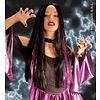 Tweekleurige heksenpruik Kassandra