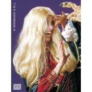 Party-accessoires Pruik, heks Morgana blond