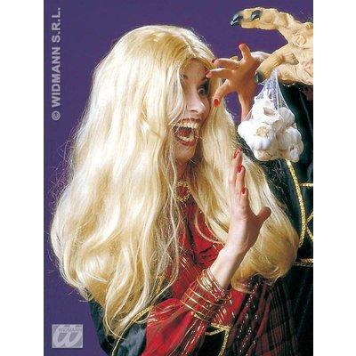Blonde heksenpruik Morgana