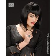 Party-accessoires Pruik, gothic vampier in verschillende kleuren